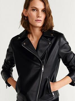 Mango Mango Pu Leather Jacket Picture