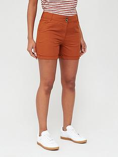 v-by-very-poplin-shorts-rust
