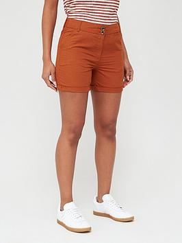 V by Very V By Very Poplin Shorts - Rust Picture