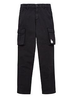 money-boys-ripstop-cargo-trouser-black
