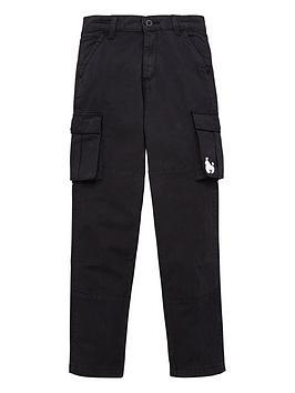 Money Money Boys Ripstop Cargo Trouser - Black Picture