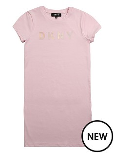 dkny-girls-short-sleeve-logo-t-shirt-dress-pink