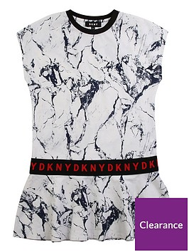 dkny-girls-marble-print-logo-peplum-dress-white