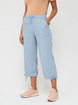 V by Very V By Very Linen Mix Crop Trousers Picture