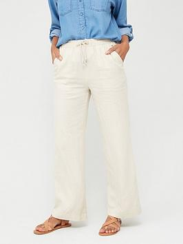 V by Very V By Very Linen Mix Trousers - Ecru Picture