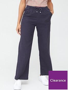 v-by-very-short-linen-mix-trouser-navy