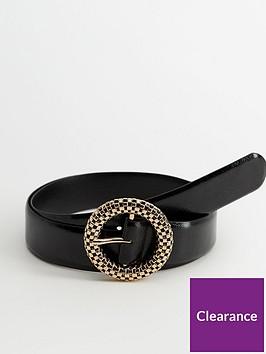 mango-woven-buckle-belt