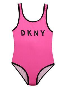 dkny-girls-logo-swimsuit-pink