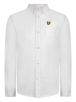 Lyle & Scott Lyle & Scott Boys Classic Long Sleeve Oxford Shirt - White Picture