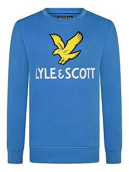 Lyle & Scott Lyle & Scott Boys Eagle Logo Crew Sweat - French Blue Picture