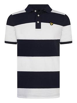 Lyle & Scott Lyle & Scott Boys Short Sleeve Wide Stripe Polo Shirt - White Picture