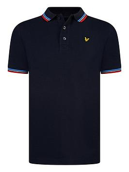 Lyle & Scott Lyle & Scott Boys Short Sleeve Tipped Polo Shirt - Navy Picture