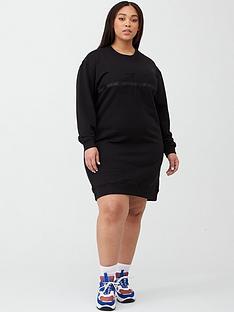 calvin-klein-jeans-plus-logo-sweat-dress-black