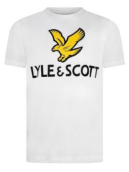 Lyle & Scott Lyle & Scott Boys Short Sleeve Eagle Logo T-Shirt - White Picture