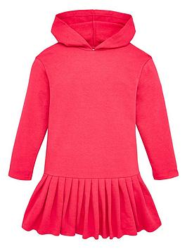 V by Very V By Very Girls Drop Waist Frill Hem Hoodie Dress - Pink Picture