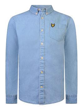 Lyle & Scott Lyle & Scott Boys Chambray Shirt - Blue Picture