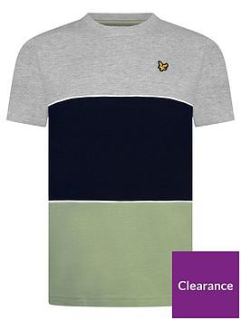lyle-scott-boys-short-sleeve-wide-multi-stripe-t-shirt-grey