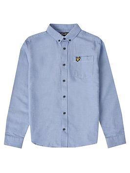 Lyle & Scott Lyle & Scott Boys Classic Oxford Shirt - Blue Picture