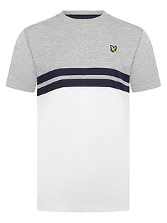lyle-scott-boys-short-sleeve-yoke-stripe-t-shirt-grey