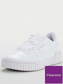 puma-puma-cali-patent-junior-trainers-white