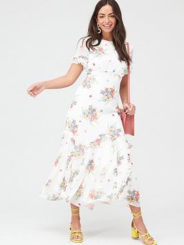 V by Very V By Very Godet Hem Midi Dress - White Picture