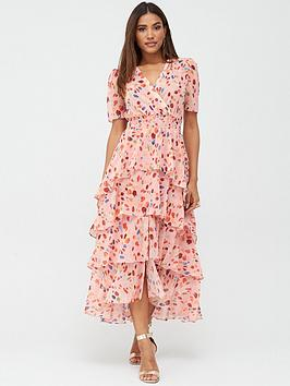 V by Very V By Very Ruffle Tiered Occasion Maxi Dress - Print Picture