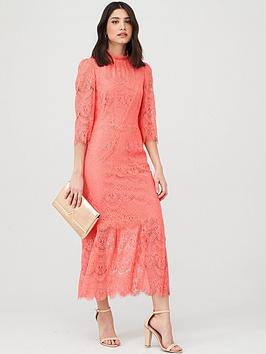 V by Very V By Very Lace Midaxi Dress - Coral Picture