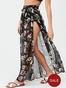v-by-very-chiffon-tie-side-beach-maxi-beach-skirt
