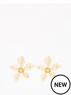 v-by-very-statement-flower-stud-earrings-gold