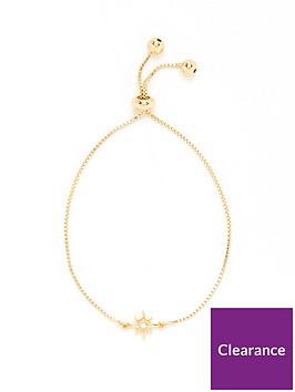 v-by-very-star-tie-up-bracelet-gold