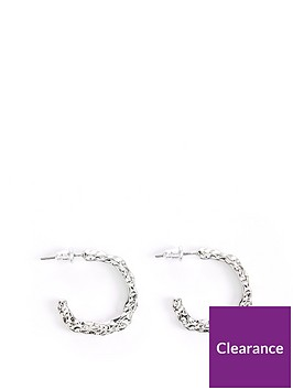 v-by-very-organic-beaten-hoop-earrings