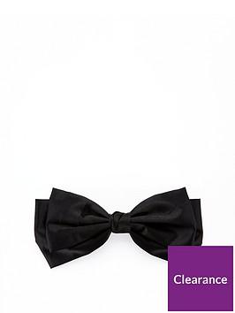 v-by-very-satin-bow-hair-clip-black