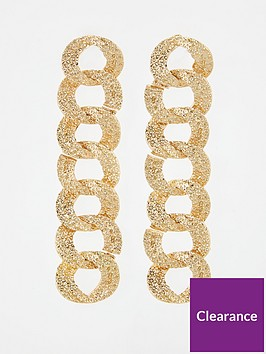 v-by-very-tex-chain-drop-earrings-gold
