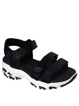 skechers-dlites-fresh-catch-chunky-sandal-whiteblack