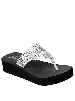 skechers-vinyasa-stone-candy-low-wedge-flip-flop-white