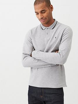 very-man-long-sleeved-tipped-pique-polo-shirt-grey