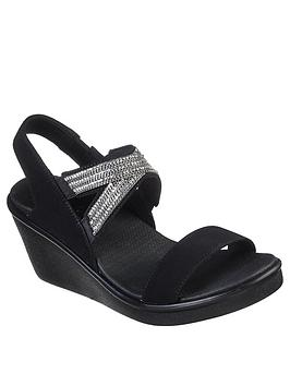 skechers-rumble-on-chart-topper-wedge-sandal-black