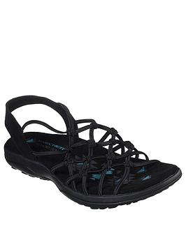 skechers-reggae-slim-strappy-flat-sandal-black