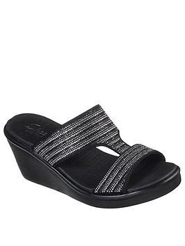 Skechers Skechers Rumble On Bling Gal Wedge Sandal - Black Multi Picture