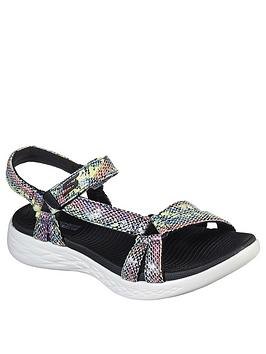 Skechers Skechers On The Go 600 Boa Flat Sandals - Black Picture