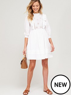 v-by-very-embroidered-ruffle-smock-dress-white