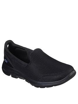 skechers-go-walk-5-wide-fit-slip-on-pump-black