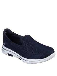 skechers-go-walk-5-wide-fit-slip-on-pump-navy