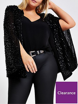ri-plus-embellished-cape-jacket-black