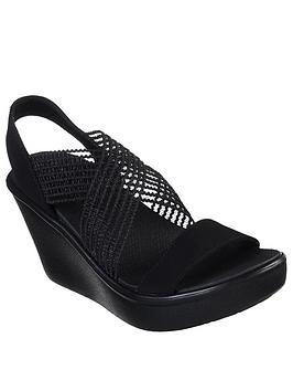 Skechers Skechers Rumble Up Cloud Chaser Wedge Sandal - Black Picture