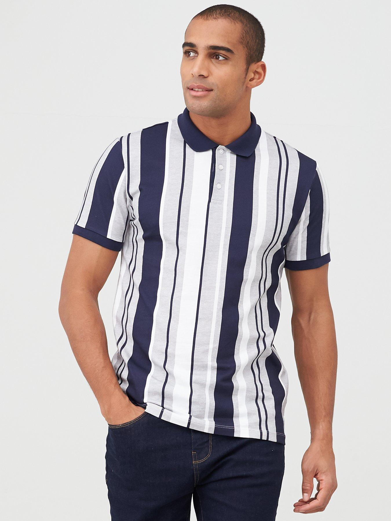 BOLF Mens Shirts Long Sleeve Casual Slim Fit Smart Formal Striped 2B2 Bussines