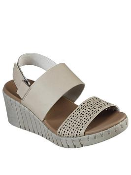 Skechers Skechers Pier Ave Wedge Sandal - Taupe Picture