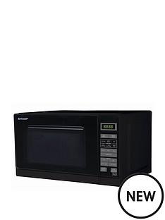 sharp-sharp-r272km-20l-800w-solo-microwave-black