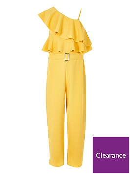 river-island-girls-one-shoulder-frill-jumpsuit-yellow