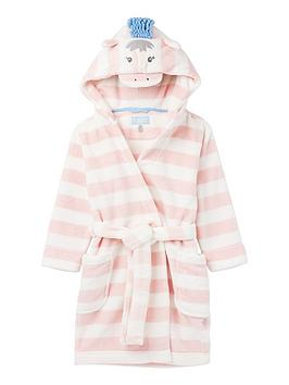 Joules Joules Girls Giddy Stripe Dressing Gown - Pink Picture